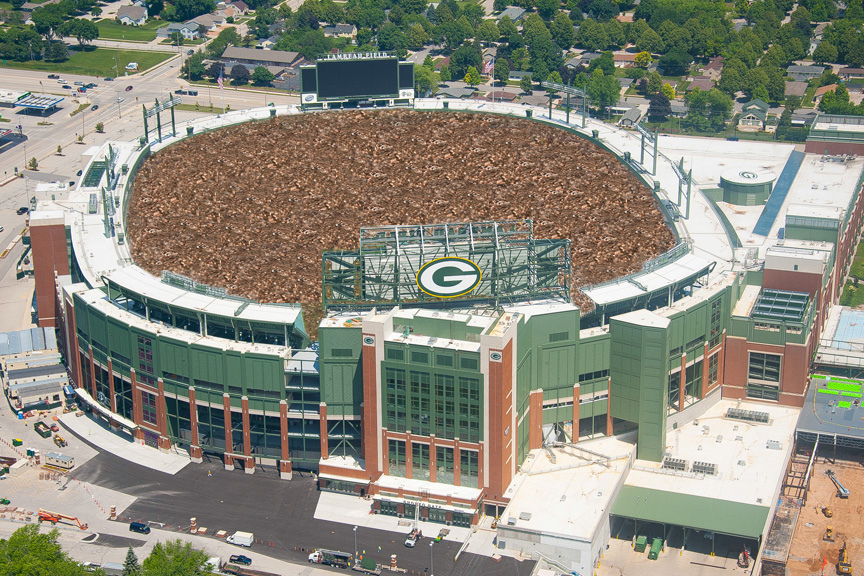 lambeau filled with pennies